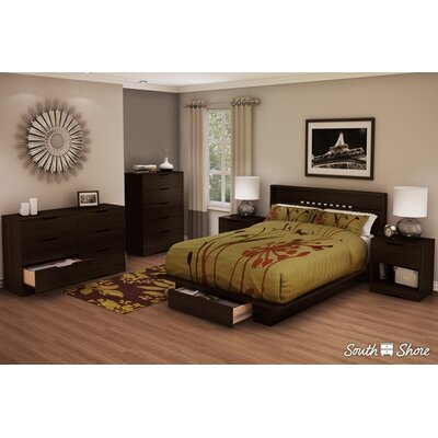 Holland Storage Queen Platform Bed Finish: Mocha
