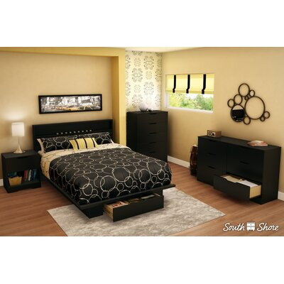 Holland Queen Platform Bed Color: Pure Black