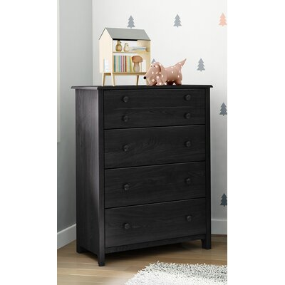 Little Smileys 4 Drawer Chest Color: Gray Oak