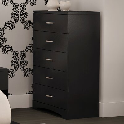 Back Bay 5 Drawer Chest Color: Pure Black