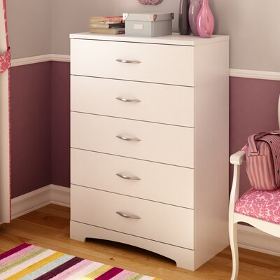 Back Bay 5 Drawer Chest Finish: Pure White