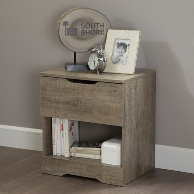Holland 1 Drawer Nightstand Color: Weathered Oak