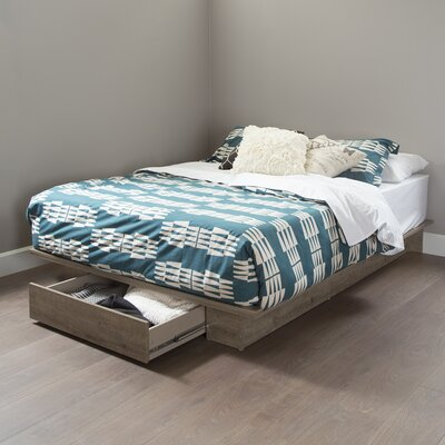 Holland Queen Platform Bed Color: Weathered Oak