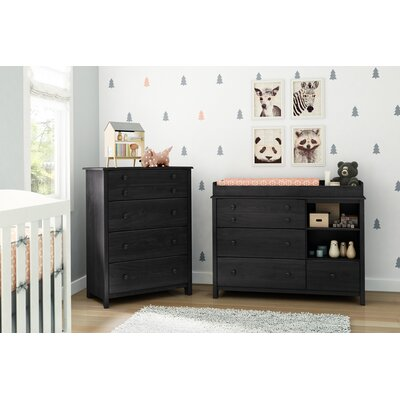 Little Smileys Changing Table with 4 Drawer Chest 10060