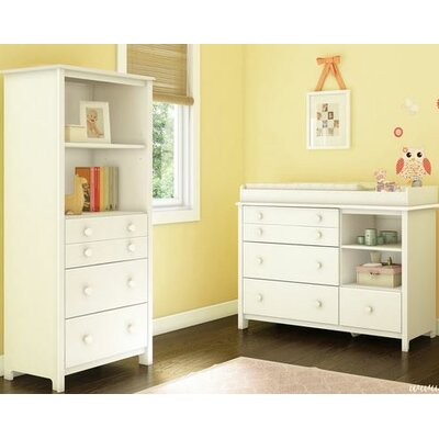 Little Smileys Changing Table and Shelving Unit Color: Pure White 3740A2