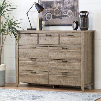 Lionel 9 Drawer Double Dresser
