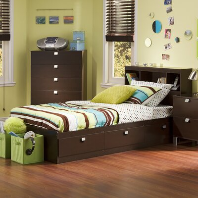 Spark Twin Mates & Captains Bed with Headboard Color: Chocolate