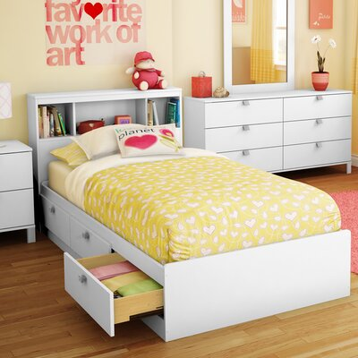 Spark Twin Mates & Captains Bed with Headboard Finish: Pure White