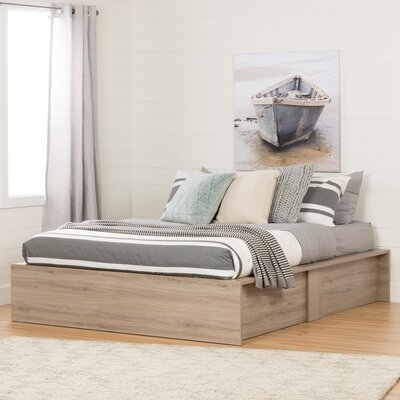 Fusion Queen Platform Bed Finish: Rustic Oak