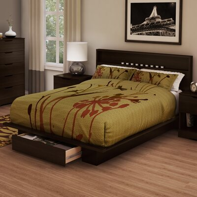 Holland Full/Queen Platform Bed Color: Chocolate