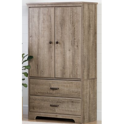Versa 2 Door Armoire with Drawer Finish: Weathered Oak