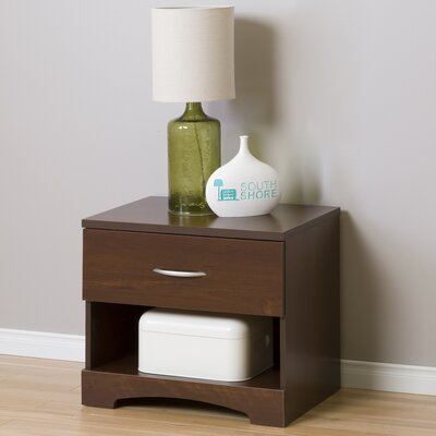 Infinity 1 Drawer Nightstand Color: Sumptuous Cherry