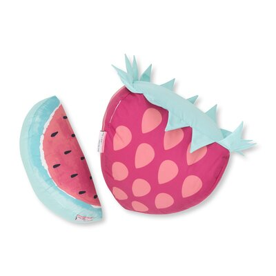 DreamIt Strawberry and Watermelon 2 Piece Throw Pillow Set