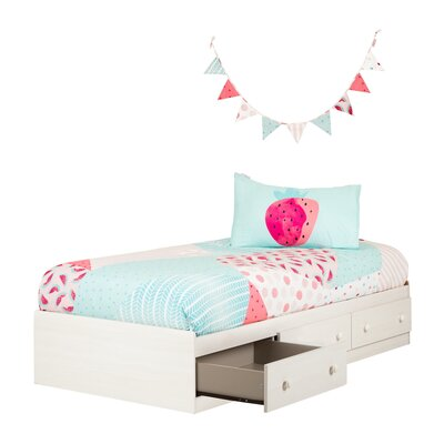 Summer Breeze Twin Mates and Captains Bed with Watermelons Comforter Set and Pennant Banner