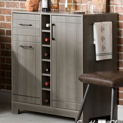 Vietti Bar Cabinet Color: Gray Maple
