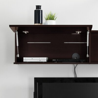 City Life Wall Mounted 48 TV Stand Color: Chocolate