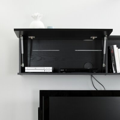 City Life Wall Mounted 48 TV Stand Color: Black Oak