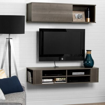 City Life Wall Mounted 48 TV Stand Color: Gray Maple