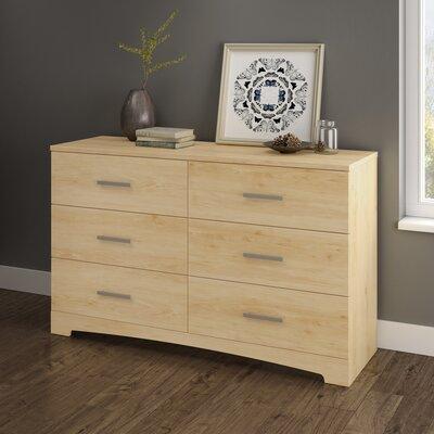 Gramercy 6 Drawer Dresser Color: Natural Maple