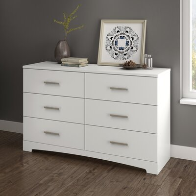 Gramercy 6 Drawer Dresser Color: Pure White