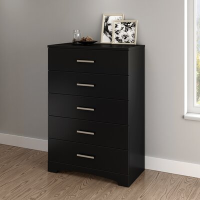 Gramercy 5 Drawer Chest Color: Pure Black