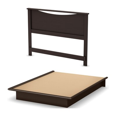Step One Queen Platform Bed Color: Chocolate