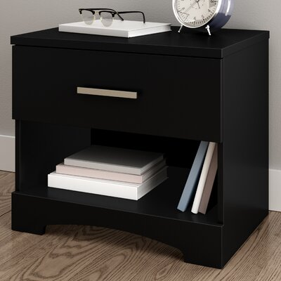 Gramercy 1 Drawer Nightstand Color: Pure Black