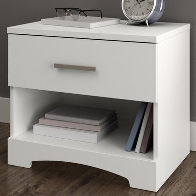 Gramercy 1 Drawer Nightstand Color: Pure White