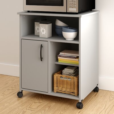 Fiesta Microwave Cart Base Finish: Soft Gray