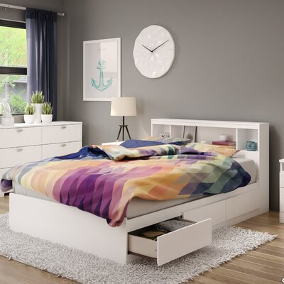 Reevo Twin Mates & Captains Bed with Bookcase Headboard Size: Full