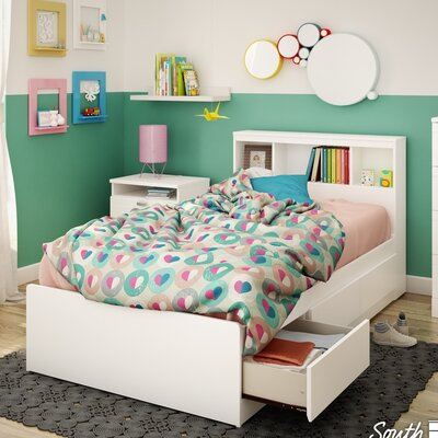 Reevo Twin Mates & Captains Bed with Bookcase Headboard Size: Twin