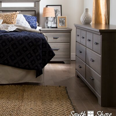 Versa 2 Piece Bedroom Set Finish: Gray Maple