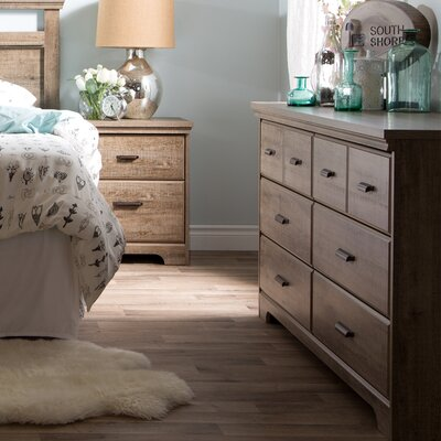 Versa 2 Piece Bedroom Set Finish: Weathered Oak