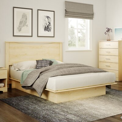 Gramercy Full/Queen Platform Bed Color: Natural Maple
