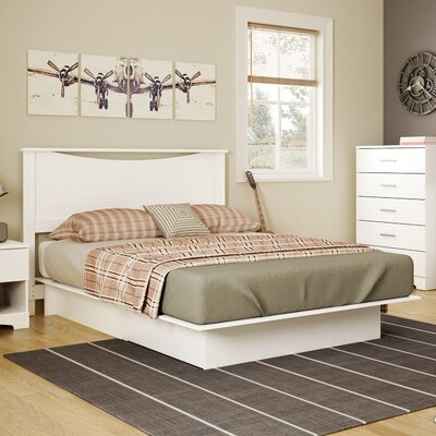 Gramercy Full/Queen Platform Bed Finish: Pure White