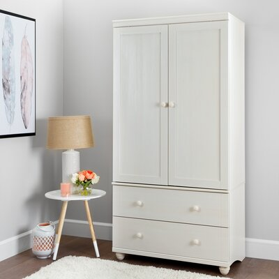 Hopedale Armoire Finish: White Wash