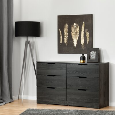Holland 6 Drawer Double Dresser Color: Gray Oak