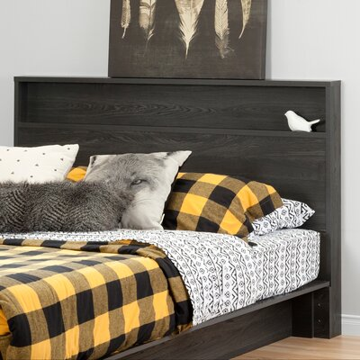 Holland Full/Queen Panel Headboard Finish: Gray Oak