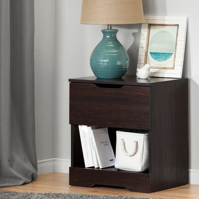 Holland 1 Drawer Nightstand Color: Havana