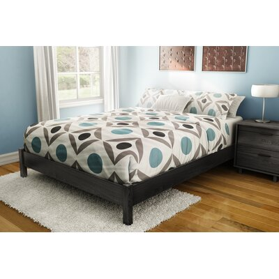 Step One Platform Bed Color: Gray Oak, Size: Queen