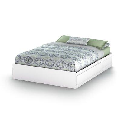Vito Storage Platform Bed Finish: Pure White