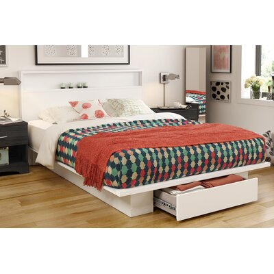 Holland Queen Platform Bed Color: White