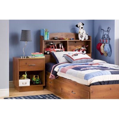 Logik Twin Mates Bed with Storage Finish: Sunny Pine