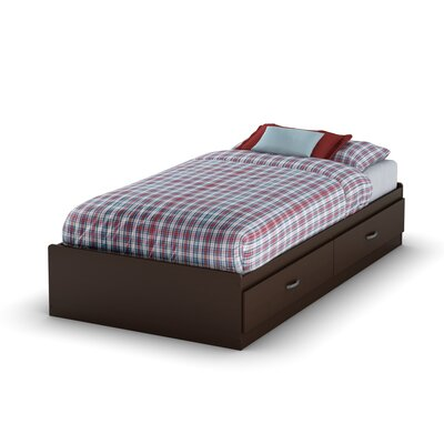 Logik Twin Mates Bed with Storage Finish: Chocolate