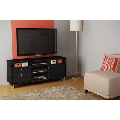 Uber 61 TV Stand Color: Black Oak