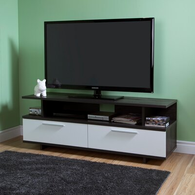 Reflekt 60 TV Stand Color: Gray Oak and Pure White