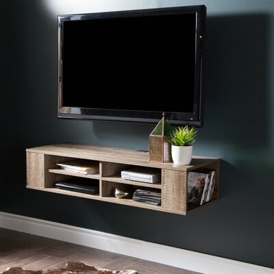 City Life 48 Floating TV Stand Color: Weathered Oak
