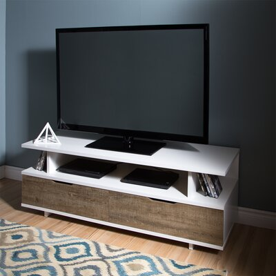 Reflekt 60 TV Stand Color: Weathered Oak and Pure White