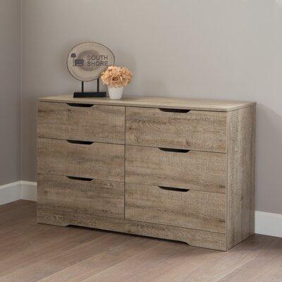 Holland 6 Drawer Double Dresser Color: Weathered Oak