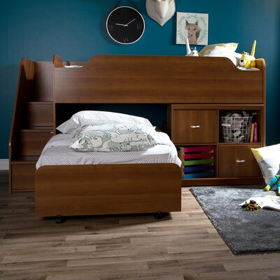 Mobby Twin Loft Bed with Storage Finish: Brown